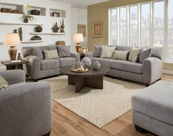 SOFA & LOVESEAT WITH TEXTURED MICROFIBER BY ALBANY