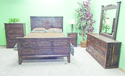 MILLION DOLLAR RUSTIC DARK ROUGH CUT QUEEN BEDROOM