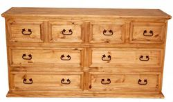 MILLION DOLLAR RUSTIC 8 DRAWER DRESSER