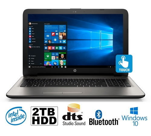 HP 17 8G 2T SILVER TOUCHSCREEN LAPTOP WIN10