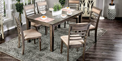 WALNUT 7-PIECE DINING SET